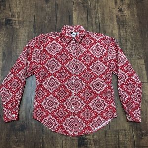 Vintage Roughrider Paisley Pattern Button Down